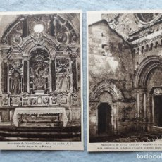 Postales: LOTE DE 2 POSTALES MONASTERIO DE OSERA.. Lote 208927430