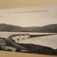 Postales: POSTAL FERROL 27 PUENTE DEL FERROCARRIL A BETANZOS EN LA FAISCA. Lote 208978666