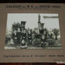 Postales: FOTOGRAFIA DEL COLEGIO DEL SAGRADO CORAZON DE JESUS. VIGO. DE P.P. JESUITAS, DIGNIDADES DE LA 2ª DIV. Lote 209242540