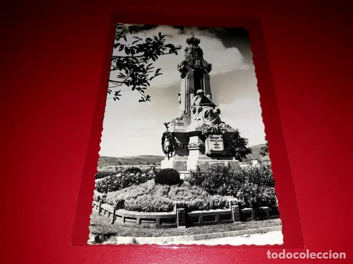 """POSTAL SANTIAGO DE COMPOSTELA """" MONUMENTO A ROSALIA DE CASTRO """" ESCRITA Y SELLADA 1959 (Postales - España - Galicia Moderna (desde 1940))"""