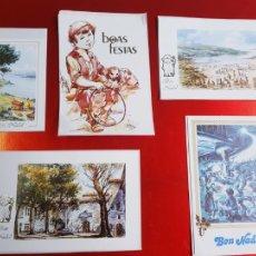 Postales: 182/LOTE 5 POSTALES-PINTURAS DE ERNESTO BAO-GALLEGO-NOS-C.1980-CON SU FUNDA DE CELOFÁN-SOBRES. Lote 209629625