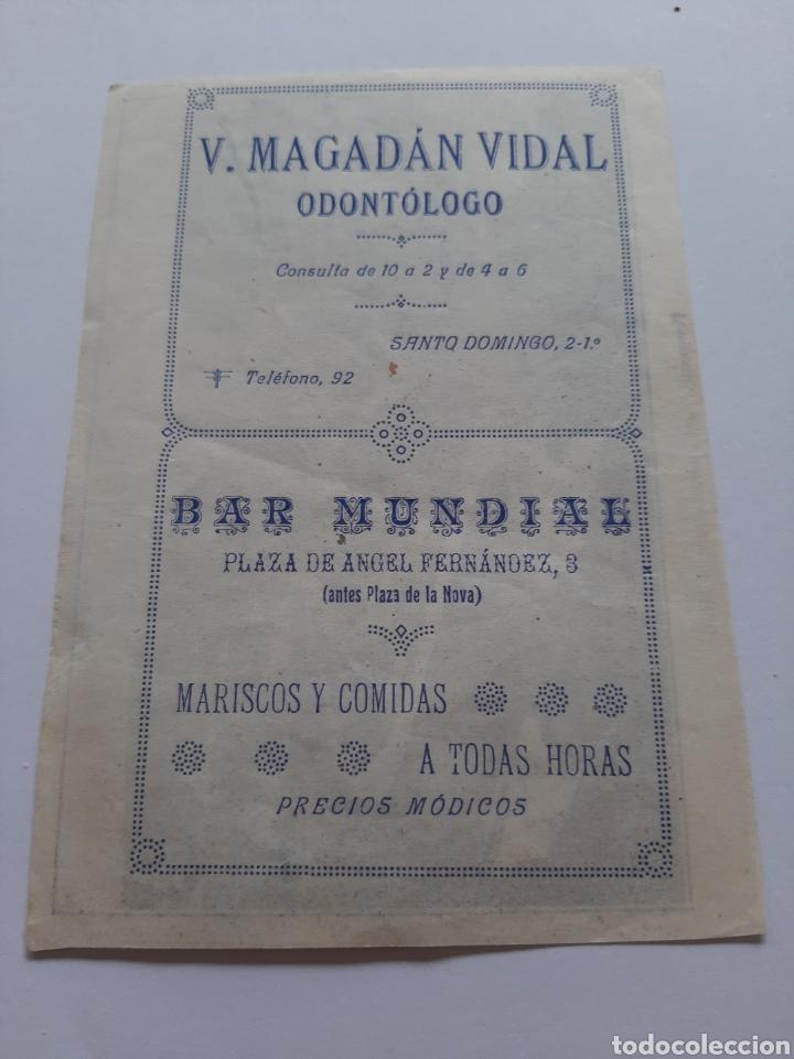LUGO PUBLICIDAD BARRIO PUENTE PERSPECTIVA ANTIGUO (Postales - España - Galicia Moderna (desde 1940))