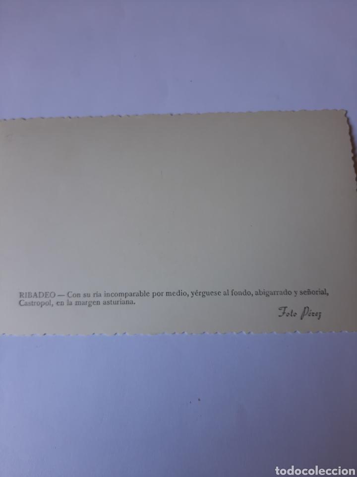 Postales: RIBADEO LUGO POSTAL FOTO PÉREZ VISTA CASTROPOL ASTURIAS - Foto 2 - 210386766