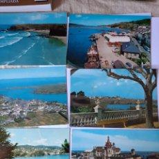 Postales: RIBADEO LUGO POSTALES VINTAGE. Lote 210387572