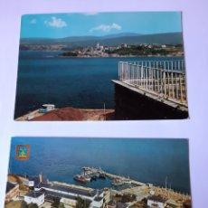 Postales: RIBADEO LUGO POSTALES PUERTO ALBERGUE CARRETERA CASTRO RIA. Lote 210387711
