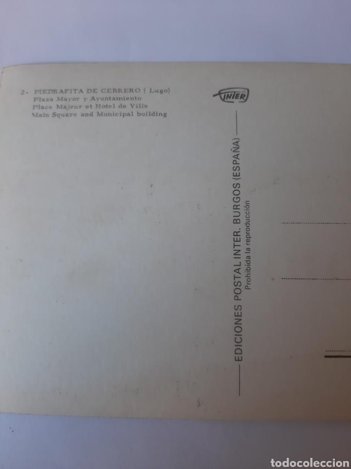 Postales: PIEDRAFITA DEL CEBRERO LUGO PLAZA MAYOR EDICIONES INTER BURGOS - Foto 2 - 210398938