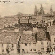 Postales: SANTIAGO DE COMPOSTELA - VISTA PARCIAL SIN CIRCULAR. Lote 210823625