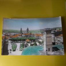 Postales: LUGO VISTAS COLOREADA PLAZA ESPAÑA AYUNTAMIENTO CATEDRAL ARTIGOT. Lote 211528471
