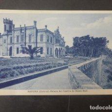 Cartes Postales: BAYONA PONTEVEDRA PALACIO DEL CASTILLO DE MONTE REAL. Lote 211771053