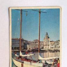 Postales: LA CORUÑA, POSTAL NO.17, DETALLE DEL PUERTO, EDIC. DOMÍNGUEZ (A.1960) ESCRITA.... Lote 211893862