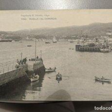 Postales: AÑOS 20 - VIGO - MUELLE DEL COMERCIO - HAUSER Y MENET - PAPELERIA R.VICETTO - SIN CIRCULAR - RARA. Lote 212262561