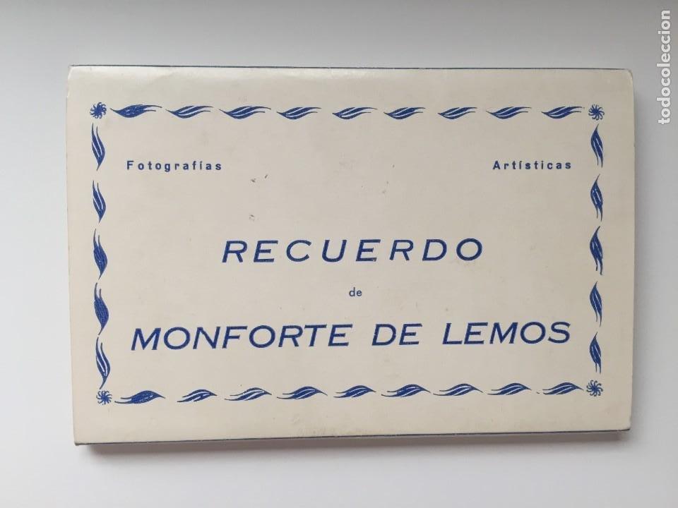 MONFORTE DE LEMOS - LIBRITO DE 10 POSTALES - ED. ARRIBAS (Postales - España - Galicia Moderna (desde 1940))
