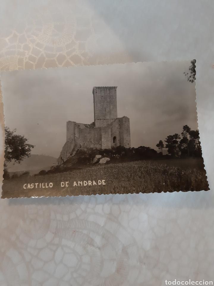 PUENTEDEUME CASTILLO ANDRADE LA CORUÑA GALICIA FOTO POSTAL (Postales - España - Galicia Moderna (desde 1940))