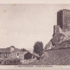 Postales: PUENTEDEUME (LA CORUÑA) - CASTILLO DE ANDRADE. Lote 214315292