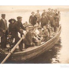 Postales: TARJETA POSTAL FOTOGRAFICA SADA, LA CORUÑA. TRANSPORTE DEL VAPOR COMERCIO. AÑO 1913. Lote 214637755