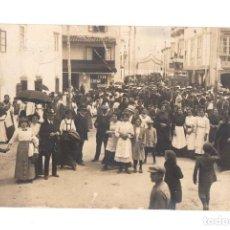Postales: TARJETA POSTAL FOTOGRAFICA CALLE REAL SADA. LA CORUÑA. R. GUILLEMINOT. AÑO 1913. Lote 214637878