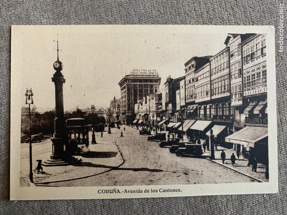 CORUÑA AVENIDA DE LOS CANTONES (Postales - España - Galicia Antigua (hasta 1939))