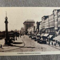 Postales: CORUÑA AVENIDA DE LOS CANTONES. Lote 215823240