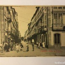 Postales: FERROL. CALLE DE GALIANO. (ED. COUCE). Lote 217529220