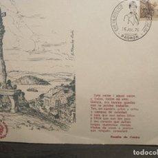 Postales: TARJETÓN DE EXPOSICIÓN FILATÉLICA DE ROSALÍA DE CASTRO 15 DE JULIO 1975. Lote 217606926