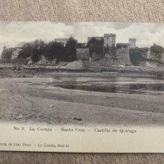 Postales: SANTA CRUZ CASTILLO DE QUIROGA.LA CORUÑA. Lote 217665906
