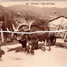 Postales: PRECIOSA POSTAL - ORENSE - TIPO DEL PAIS. Lote 219319860