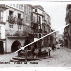 Postales: BONITA POSTAL - ORENSE - PLAZA DE HIERRO. Lote 219327858