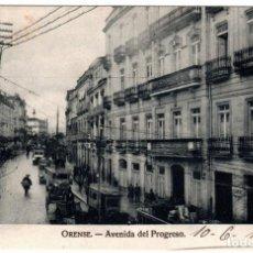 Postales: BONITA POSTAL - ORENSE - AVENIDA DEL PROGRESO. Lote 219328230