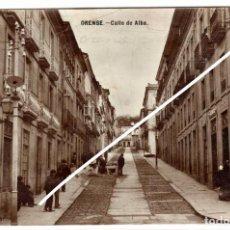 Postales: MAGNIFICA POSTAL - ORENSE - CALLE DE ALBA - FARMACIA DE LUIS FABREGA. Lote 219351973