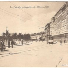 Postales: POSTAL - LA CORUÑA - AVENIDA DE ALFONSO XIII. FOTO TEIGEIRO, PARDO, REGÚERA.. Lote 221306777