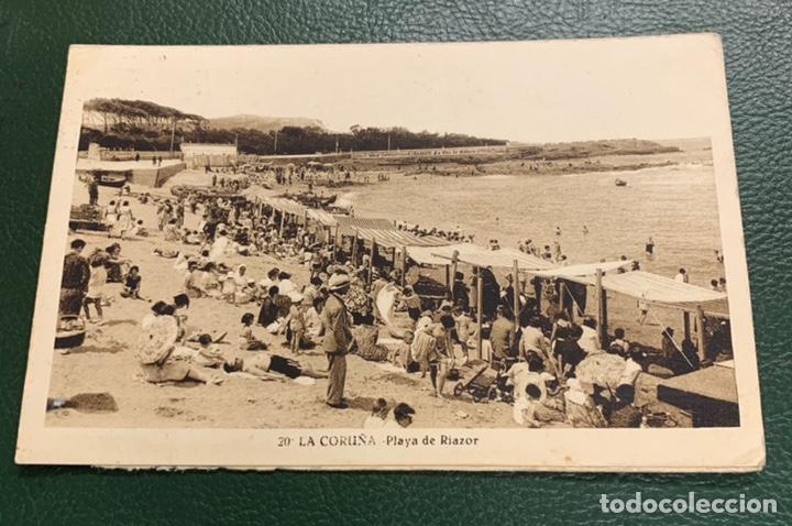 PLAYA DE RIAZOR . 20. CORUÑA (Postales - España - Galicia Antigua (hasta 1939))