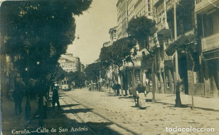 CORUÑA. CALLE DE SAN ANDRÉS. HACIA 1910. (Postales - España - Galicia Antigua (hasta 1939))