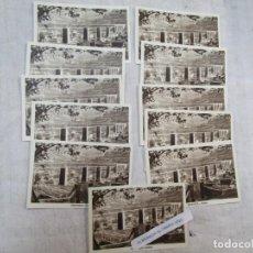 Postales: GALICIA - LIQUIDAMOS 12 POSTALES ' VIADUCTO REDONDELA' S/C EDI FOURNIER VITORIA EN SEPIA + INFO. Lote 221873598