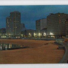 Postales: Nº 753 LA CORUÑA. PLAYA DE RIAZOR, NOCTURNA -EDICIONES PARIS, 1972-. Lote 221960003