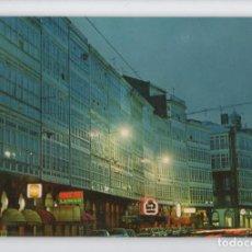 Postales: Nº 1025 LA CORUÑA. AVENIDA DE LA MARINA, NOCTURNA -EDICIONES PARIS, 1977-. Lote 221960658