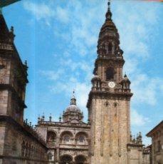 Postales: VESIV POSTAL SANTIAGO DE COMPOSTELA Nº2048 PLAZA DE LAS PLATERIAS TORRE DEL RELOJ. Lote 221983946