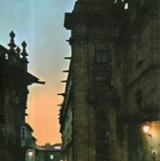 Postales: VESIV POSTAL SANTIAGO DE COMPOSTELA Nº96 CALLE DE FONSECA NOCTURNO. Lote 221984067