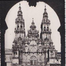 Cartes Postales: SANTIAGO DE COMPOSTELA, CATEDRAL, PLAZA DE ALFONSO XII - L.ROISIN FOT. Nº41 - ESCRITA 1942. Lote 222129090