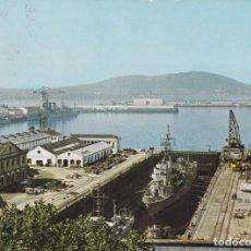 Cartes Postales: EL FERROL DEL CAUDILLO, LA DARSENA - ESCUDO DE ORO Nº8 - CIRCULADA 1968. Lote 222130997