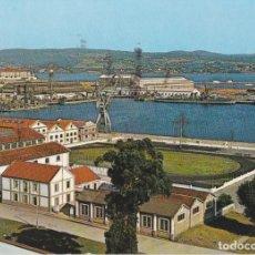 Postales: EL FERROL DEL CAUDILLO, ARSENAL, VISTA PARCIAL - GARCIA GARRABELLA Nº10 - CIRCULADA 1967. Lote 222131482