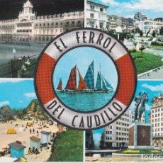Postales: EL FERROL DEL CAUDILLO, VARIAS VISTAS - EDICIONES ARRIBAS Nº2039 - CIRCULADA. Lote 222131566