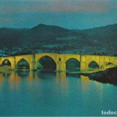 Postales: ORENSE (GALICIA), PUENTE ROMANO, NOCTURNA - EDICIONES PARIS Nº549 - EDITADA EN 1969 - S/C. Lote 222133287