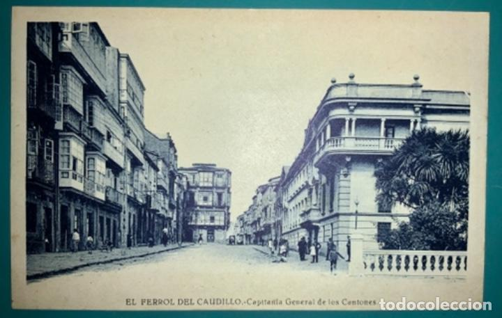 POSTAL DE EL FERROL DEL CAUDILLO CAPITANÍA GENERAL DE LOS CANTONES SIN CIRCULAR (Postales - España - Galicia Moderna (desde 1940))