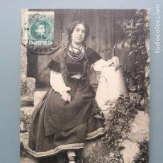 Postales: POSTAL VIGO Nº 1588 TIPO DEL PAIS EDIC HAUSER Y MENET PONTEVEDREA GALICIA CIRCUL 1907 PERFECTA CONSE. Lote 222321183