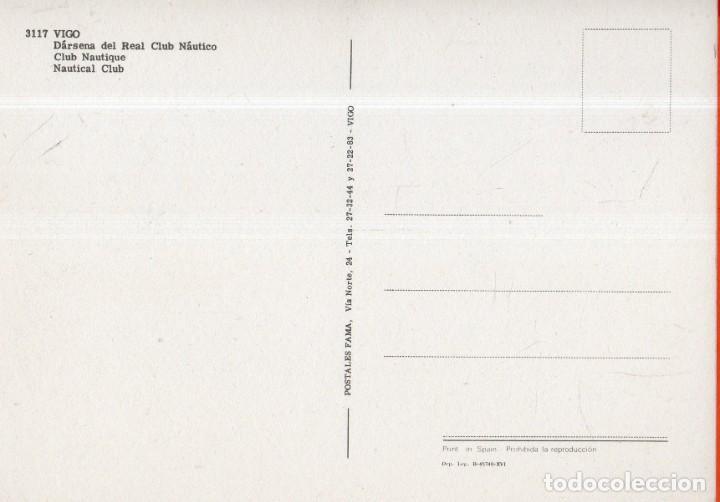 Postales: VESIV POSTAL VIGO Nº3117 DARSENA DEL REAL CLUB NAUTICO - Foto 2 - 222351156
