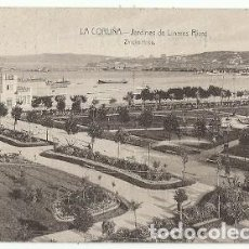 Postales: ANTIGUA POSTAL LA CORUÑA JARDINES DE LINARES RIVAS ZINCKE HNOS. Lote 222557146