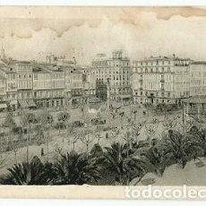 Postales: ANTIGUA POSTAL LA CORUÑA PASEO DE MENDEZ NUÑEZ FOTO CANCELO ESCRITA 1939. Lote 222557246