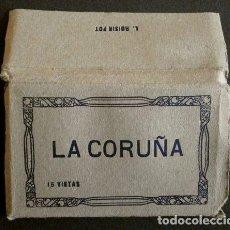 Postales: LA CORUÑA - PEQUEÑO BLOC LIBRITO CON 15 VISTAS - ED. FOTO ROISIN - (10 X 6 CM) A CORUÑA - BLOCK. Lote 224070878