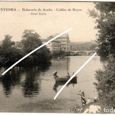 Postales: BONITA POSTAL - PONTEVEDRA - BALNEARIO DE ACUÑA - CALDAS DE REYES - HOTEL ACUÑA. Lote 224095726