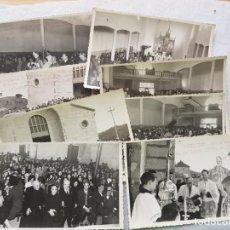 Postales: ORENSE REPORTAJE FOTOGRAFICOAÑOS 60 9 FOTOS BENDICION IGLESIA DE RAIRO OURENSE FOTO GALLEGO. Lote 224206803